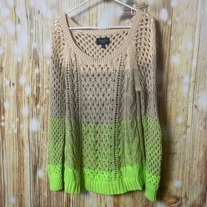 Neon ombré sweater